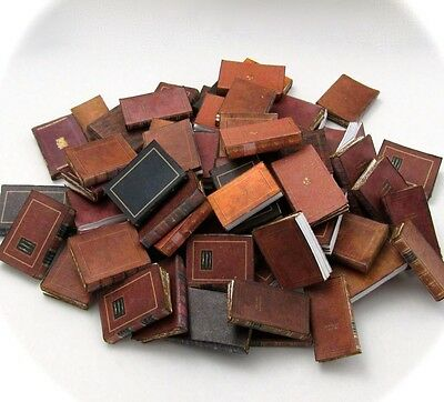 72 LIBRARY BOOKS Prop Books Miniature Dollhouse Books 1:12 Scale Fill Bookshelf