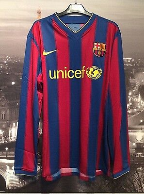 Barcelona l/s 2009 player issue home shirt / jersey - New wit tags - large