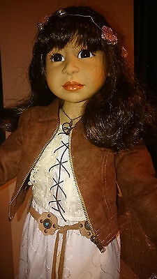 "Vintage LE Götz doll by Joke Grobben ""Mila"" SIGNED with COA"