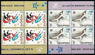 Albania 2005 _ The 50th Anniversary of EUROPA Stamps _ 4 x Full Series - MNH**