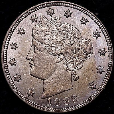 BU 1883 NC Liberty V Nickel R9KCP
