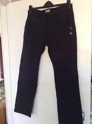 Ladies Craghoppers Black Pro Stretch Trousers 14s