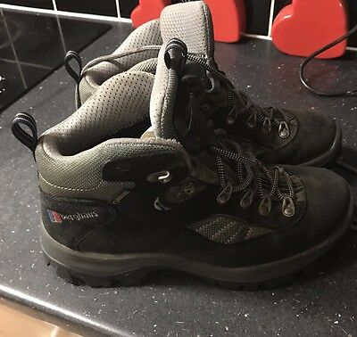 Berghaus Explorer Trek Gore-Tex Grey Ladies Suede Hiking Boots Size 6 Uk