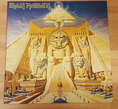 Iron Maiden 'powerslave' Original Vinyl Lp With Merch Insert