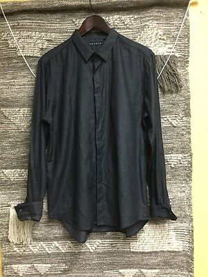 Theory Men's Button Down Shirt Color Black  Size M