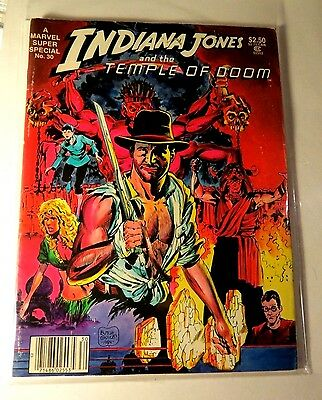 Marvel Super Special #30 Indiana Jones Temple of Doom Bronze age  Vintage  MG88