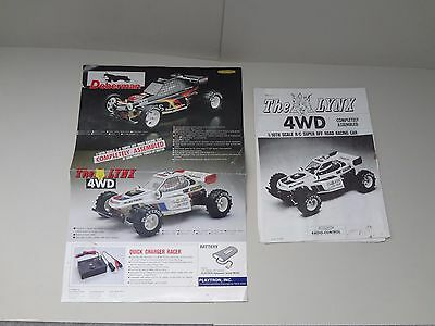Vintage PLAYTRON The LYNX (Manual & Poster Only)  RC 4WD 1/10th Off Road -NO RSV