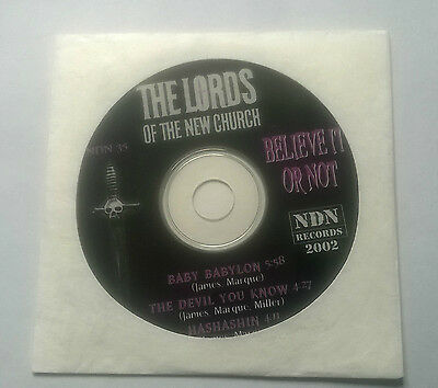 The Lords Of The New Church * Baby Babylon * Rare 3 Tk Cd 2002 Ndn 35