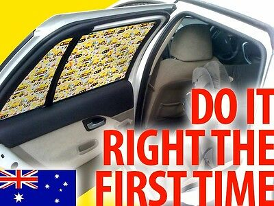 1 Earth Moving Car Side Rear Window Sun Shade Tint – Baby Kids, Fits Any Car