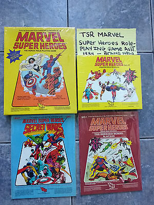 1984 Tsr Marvel Super Heroes Role-Playing Game Miniatures Brand New Sealed Rare!