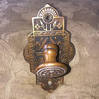 ANTIQUE Collectible Pull Down Aesthetic Style  DOOR BELL T- LEVER Sargent 1870s