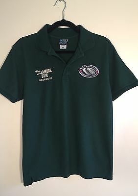Tullamore Dew Irish Whiskey Mens Rugby World Cup Polo T-Shirt. Size Medium