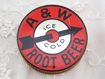 A & W Jar Lid Litho Red Collectible