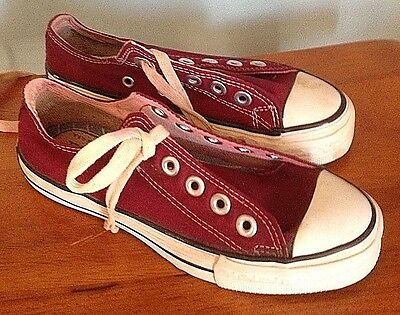 Converse Coaches, in MAROON. Black Label, Boys sized 1's