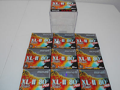 Maxell Xl-Ii 80 Md Pro Minidiscs X 10 New Sealed In A Maxell Md Flip Top Box.