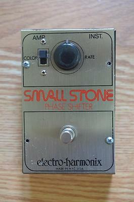Electro Harmonix Small Stone Phase Shifter Vintage Guitar Effects Pedal - EHX