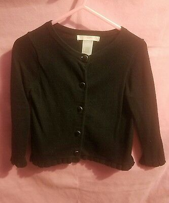 Janie and Jack Toddler Girls Black Cardigan Size 2T