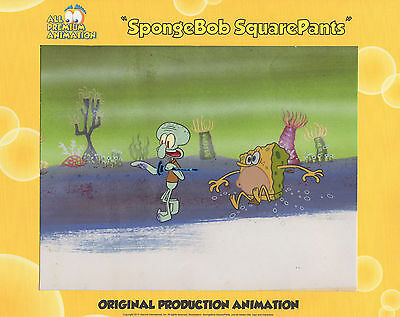 """EXTREMELY RARE  """"SB-129"""" ! """"THE VERY BEST""""! Spongebob Production CEL #5483"""