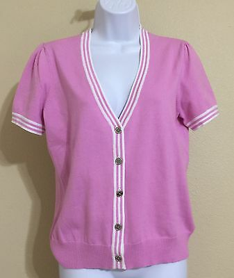 American Living Women's Pink Short Sleeve Knit Top Size M NWT