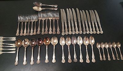 """Rodd Silver Cutlery """"Camille"""" Complete Set 50 Pieces With Bonus Dessert Forks"""