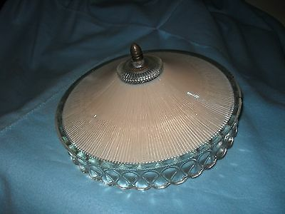 Vintage Pink Art Deco Glass Cieling Light Lamp Shade Cover