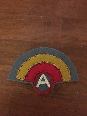 WWI US Army 42ns Division,Third Army patch AEF