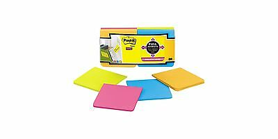"""3M Post-it Super Sticky Full Adhesive Notes 12 pads, 3""""x 3"""", 300 Sheets, 76mm"""