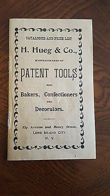 H. HUEG & CO Catalog and Price List BAKERS etc NEW YORK Long Island c 1890 Candy