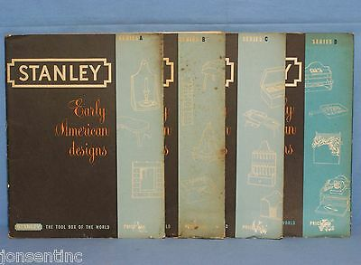 Vintage 1950's Stanley Tools Early American Designs WOODWORKING PLANS Furniture