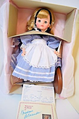 Rare High-Quality Hand-Crafted Madame Alexander Alice And Wonderland Doll NIB