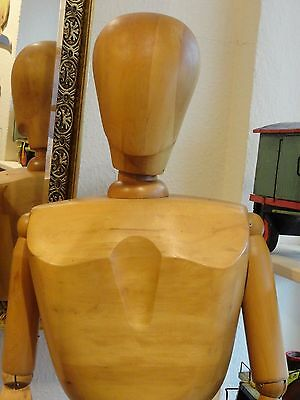 "HUGE 71"" full wood mannequin articulated modernist bauhaus art deco mid century"