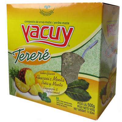 Yacuy Yerba Mate Tea with Pineapple and Pepermint Terere style 2x500g (Brazil)