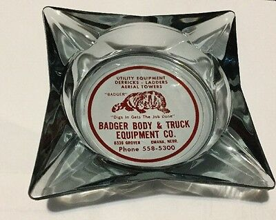 Vintage Badger Equipment Ashtray Omaha, NE