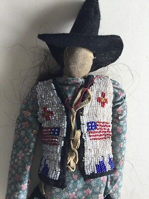 Cheyenne Doll with American Flags on Vest, c. 1940 ?