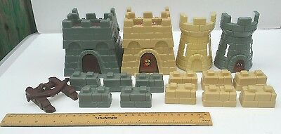 Crossbows and Catapults toy game parts Castle Walls Spare pieces Vintage 1980s