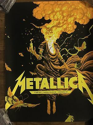 Metallica Worldwired Tour Poster Vip Only Nassau Coliseum Ny 5/17/2017 Uniondale
