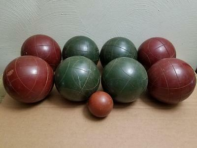 """Vintage Sport Craft Italy ? Unmarked Bocce Ball Set 2.5 Lb. 14.5"""" Good Condition"""