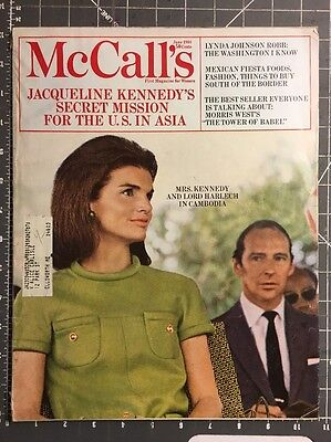 McCALL'S JUNE 1968. Jacqueline Kennedy Fashion, Vintage Ads And MORE...