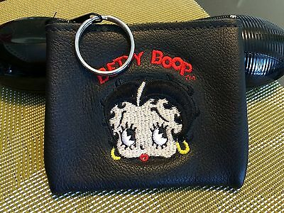Betty Boop Genuine Leather Change Purse Keychain Very Functional Vintage 1995