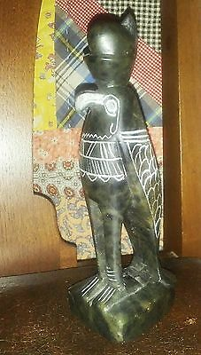 Hand Carved Native American Indian Soapstone Art Sculpture Statue Carving
