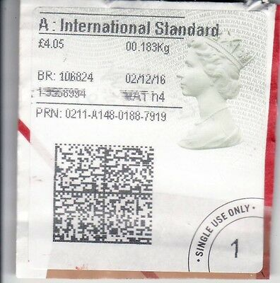A Used UK Stamp Label White Colour On Paper 2016
