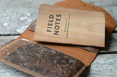 Leather  wallet moleskine cover travel journal  notebook field notes