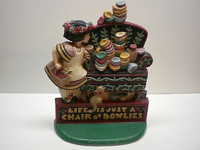 Vintage Mary Engelbreit~BOWLIES~Cast Iron Door Stop~Midwest Cannon Falls~