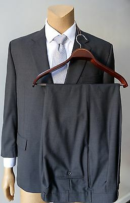Jos. A. Bank Men's Gray Pleated Trousers 2 Piece Classic Wool Vintage Suit 46R
