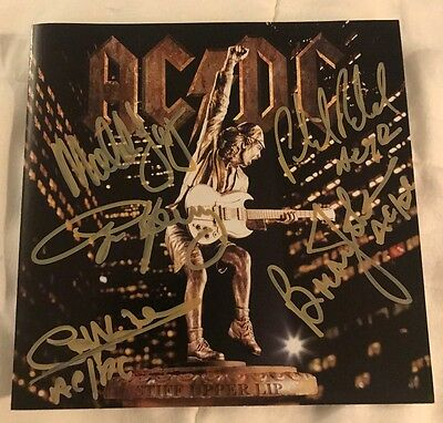 AC/DC Fully Signed / Autographed (5) 'Stiff Upper Lip' CD w/ Lanyard RARE!!
