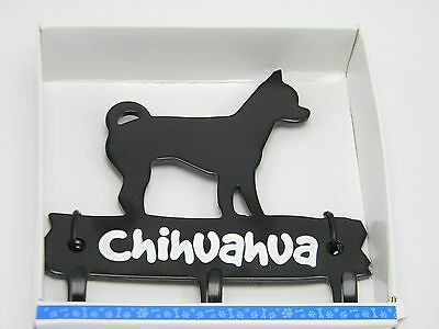 Pet Metal Chihuahua Dog Hook Wall Hanger Leash Key Hat Cap Coat Home Decor