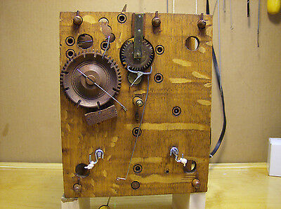 Jeromes and Darrow 8 day wooden works clock movement
