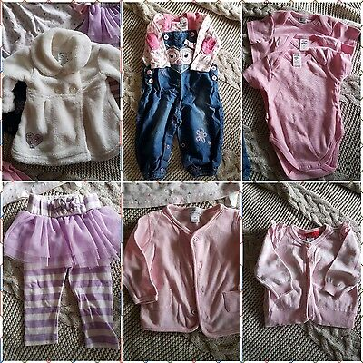 8 x mixed baby girl items size 3-6 months  (00) -EUC