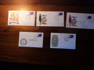 Set of 5 Australia first day cover FDC 1967 Christmas