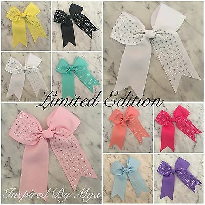 Girls Bow Hair Clip Large Bow Bling Bow School Dance Party Cheer Bow Accessory